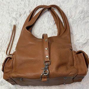 Botkier shoulder bag tan leather double straps